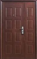 Входные двустворчатые двери  Статус с матовой пленкой 1200*2050 мм квартира