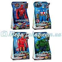 Фигурки Супергерои/Super Heroes, 4 вида: Спайдермен, Халк, Железный человек, Капитан Америка