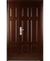 Входные двустворчатые двери  Статус с пленкой Винорит 1200*2050 мм уличные