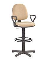 Компьютерное кресло офисное для персонала REGAL GTP ERGO RING BASE PM60 STOPKI 11.2, 128, 24, 45.0, 45.0, металл, Да, Да, Украина, 43.5, 43.5, ИСК. КОЖА V