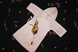 """Рубашка для крещения """" Прованс """" с капюшоном, фото 2"""