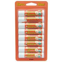 Органические бальзамы для губ, Масло ши и аргановое масло, Sierra Bees, 8 штук, 4,25 г
