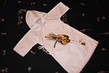"""Рубашка для крещения """" Прованс """" с капюшоном, фото 4"""