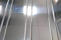 Реечный алюминиевый потолок суперхром (зеркальный), комплект