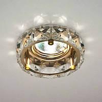 Точечный встраиваемый светильник Feron CD4525 прозрачный золото