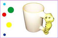 Печать на детских чашках с ручками-зверушками, 350 мл