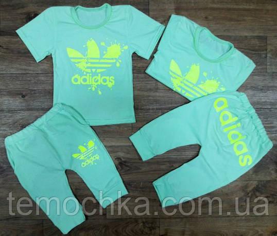 """Летний комплект """"Adidas"""" клякса."""