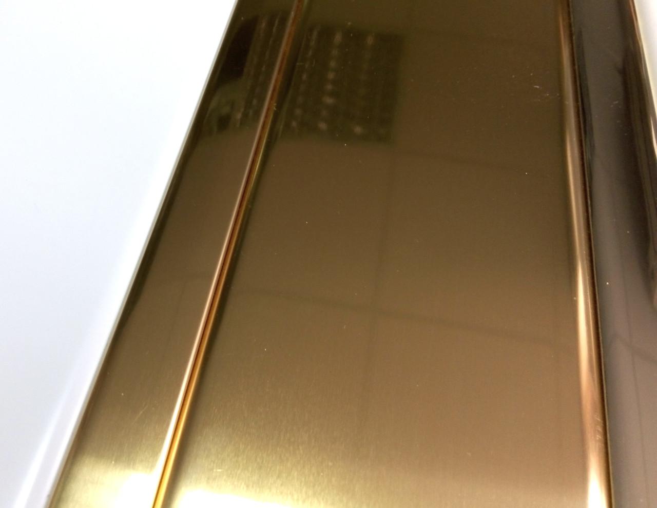 Реечный потолок под золото, комплект