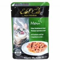Edel Cat (Эдель Кэт) pouch индейка и утка в соусе 100 гр
