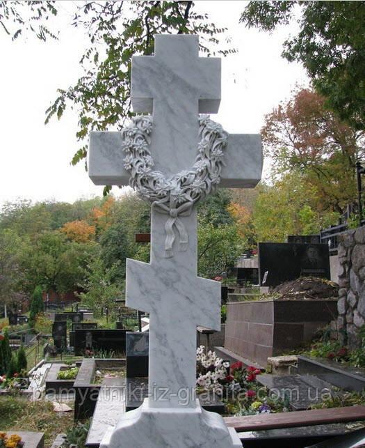 Крест из мрамора № 21