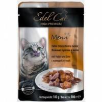 Edel Cat (Эдель Кэт) pouch курица и утка в желе 100 гр