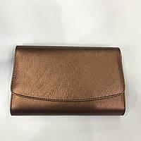 Женская сумка клатч 1673 модный цвет бронза- кофе