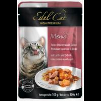 Edel Cat pouch лосось и камбала в желе 100 гр