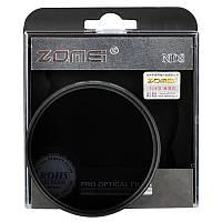 Нейтрально-серый светофильтр ZOMEI 72 мм ND8, фото 1