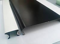Реечный потолок черный, вставка белая, комплект