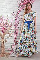 Длинное платье в модный цветочный принт