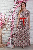 Платье из натуральной ткани в огурцы