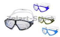 Очки (полумаска) для плавания SIROCCO PL-2160(термостекло, пластик, силикон,цвета в ассортименте)