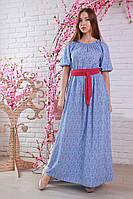 Длинное платье в мелкий цветочек