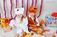 Карнавальный костюм Белый Мишка Медвежонок, фото 1