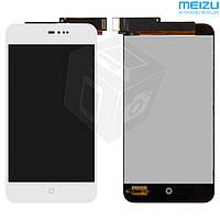 Дисплей + сенсор (touchscreen) для Meizu MX2, белый, оригинал