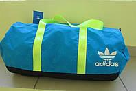 Сумка женская Adidas (3520) голубая с салатовым код 0356 А