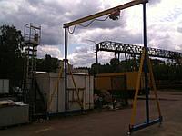 Кран козловой портативный (ПКК) складной стационарный передвижной г/п 1т