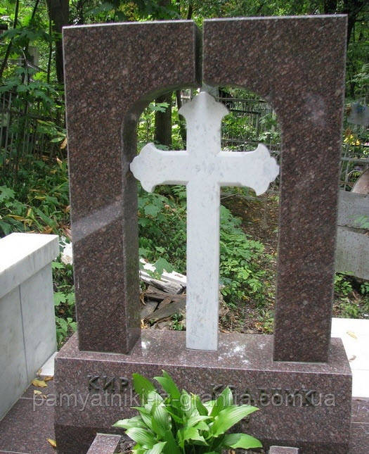 Крест из мрамора № 56