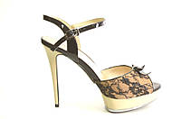 Босоножки женские Mario Moro из натуральной кожи на каблуке,женские босоножки