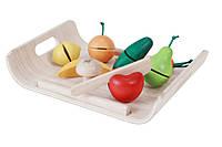 Plan Toys - Деревянное фруктово-овощное ассорти