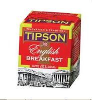 """Чай черный Tipson """"Английский завтрак"""" в картоне  100 г"""
