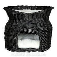 Когтеточка,дряпка Trixie TX-2872 лежак-домик (плетеный) 54х43х37см,чёрный