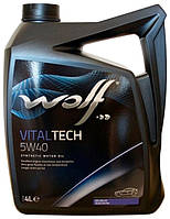 Масло моторное 5W40 WOLF VITALTECH, 4 л