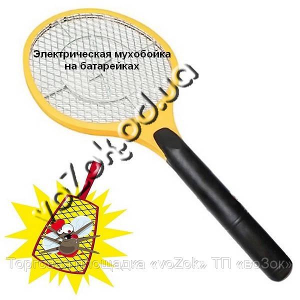 Электрическая мухобойка в виде ракетки на батарейках Bug Catcher
