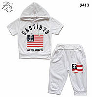 """Летний костюм """"Американский флаг"""" унисекс. 90, 100, 120, 130 см"""