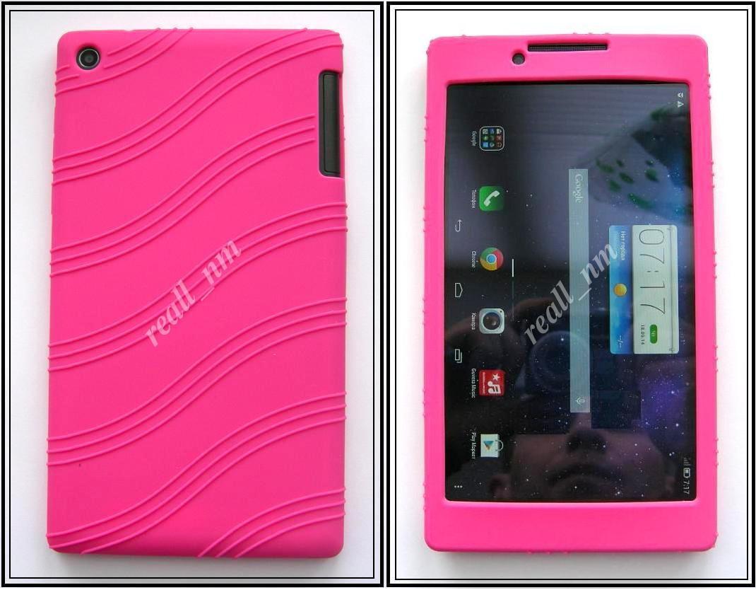 Розовый силиконовый чехол-бампер для планшета Lenovo Tab 2 A7-30