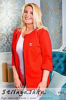 Женский пиджак большого размера Шанель красный