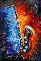«Саксофон» картина маслом