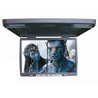 """Монитор автомобильный потолочный Klyde Ultra KU 3705 GR (15,6"""") USB / SD / TV серый"""