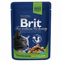 Brit Premium Cat Pouch для стерилизованных кошек 100гр