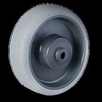 Колесо аппаратное с серым протектором с кронштейном из нержавеющей стали PE ECOFORM-серия