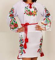 "Красивое вышитое платье ""Мальвы"", 40-50 р-ры, 630/580 (цена за 1 шт. + 50 гр.), фото 1"