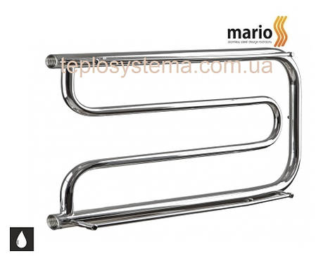 Полотенцесушитель водяной MARIO Фокстрот  350 х 600 с полочками (Mario), фото 2