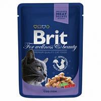 Brit Premium Cat Pouch с треской для кошек 100гр