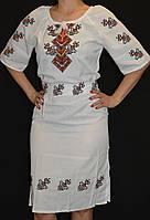 """Платье вышитое на домотканом полотне """"Берегиня"""" 42-44 р-ры, 600\500 (цена за 1 шт. + 100 гр.)"""