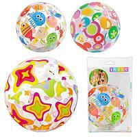 Детский надувной мяч 59040 разноцветный, 51см, 3 цвета, в кульке, 24-15,5см