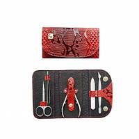 IN127 Маникюрный набор НМ-02 «Кошелек», 5 предметов (кусачки,лопатка,ножницы,пинцет,пилка)