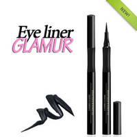 Лайнер Glamur / Жидкая перманентная подводка для глаз черная