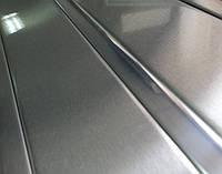 Реечный потолок под нержавейку с зеркальной вставкой, комплект