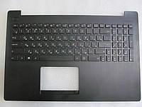 Asus K553, X553 клавиатура черная RU/USв сборе: черная крышка, кнопка включения, клавиатура